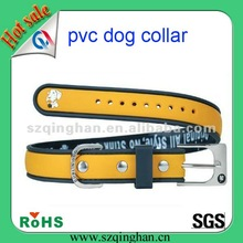 promotion pvc pet/dog collar with rubber
