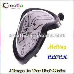 Melting Clock Retro Dali Inspired Warping Melting Shelf Clock