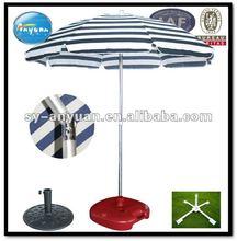 220cm 140G polyester beach sun umbrella with tilt