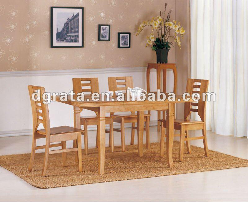 2012 nuevo diseño de mesa de comedor de madera en madera maciza de la familia comedor