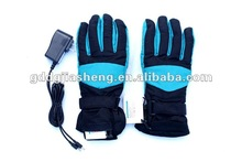 Heated gloves for motorcycle club