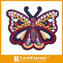 colorful buteerfly shape custom design plain embroidery