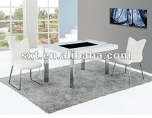 Modern wood and metal frame design Dining Table