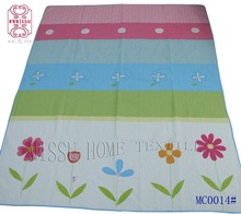 100% cotton fabric and follwerpattern / pink /blue quilt /cover/ bedding set