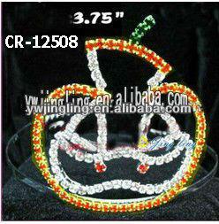 Halloween rhinestone pumpkin cake crown