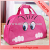 2014 New Women Lady Cheap Promotion Animals Cat Print Cute Lovely Travel Bags Duffle Sport Pack, Blue, Pink