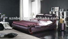 2013 latest soft leather bed in china