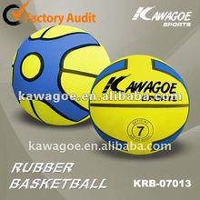 yellow rubber basketball
