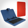 7 inch USB Keyboard Leather Case for android tablet, universal tablet pc keyboard leather case 7/8 /9/9.7/10.1inch tablet case