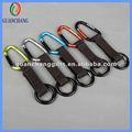 Baratos de fábrica personalizada gancho de escalada, llavero, gancho clave cordón corto