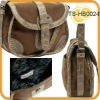 Embossed croco leatherette suede two-tone crossbody bag bags leather