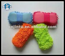 Weft knitting chenille wash sponge