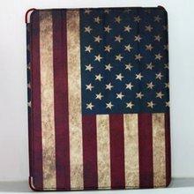 For Apple IPad Mini PU Leather SmartCover Skin Vintage USA/UK Flag Case