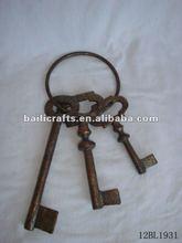 metal hanging keys