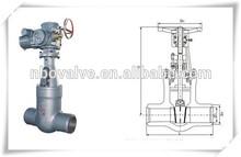 API standard stainless steel butt weld gate valve