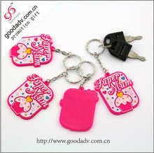 2015 Souvenir gift Monkey Shaped Soft pvc rubber keychain