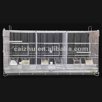 New Model CANARY Cage, FINCH Cage, Bird BREEDER CAGE 2 Dividers and 3 Compartments