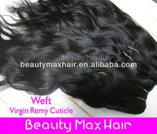 No shedding brazilian virgin hair extenion,natural color natural wave virgin human hair weft accept paypal
