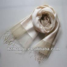 2014 Spring/ Summer solid color fringed silk scarves