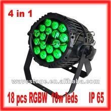 HOT 18 pcs 4 in 1 10w RGBW led led par cans quad color (WLP-01-2)