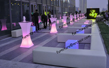 shanghai commercial furniture wedding acrylic led lighted stylish bar table lighted furniture