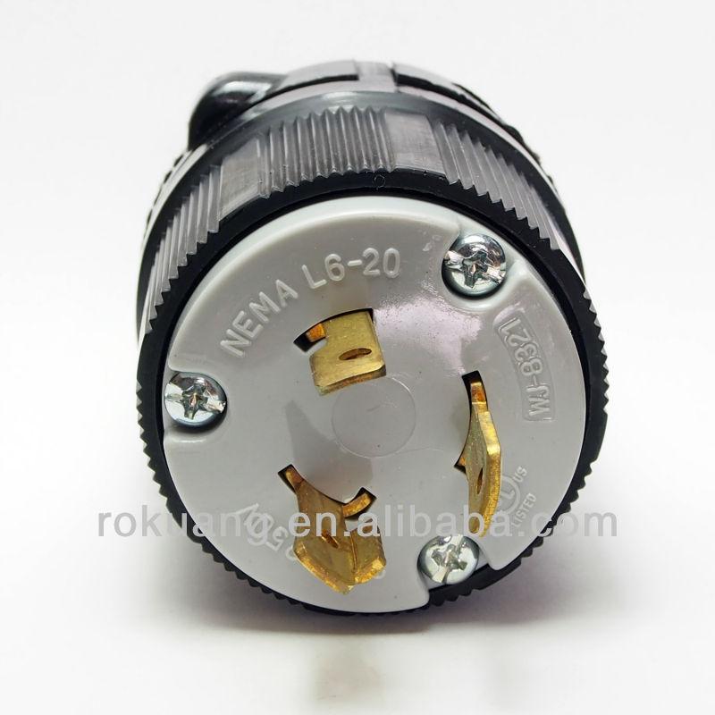 20a 250v Plug 20a 250v Power Plug Nema l6