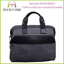Fashion Washed Canvas Mens Handbags 2013