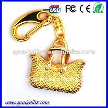 Jewelry Bag Shape Metal USB Key/Bulk 1gb Usb Flash Drive