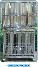 Stainless Steel Dog Cage 84X64X153cm