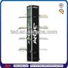 TSD-M211 Custom retail shop floor metal display stand for motor helmets/acrylic display rack helmet/hat and scarf displays