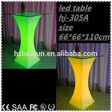 led RGB outdoor high top bar tables&portable bar table