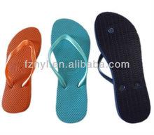 PE rubber plain flip flop