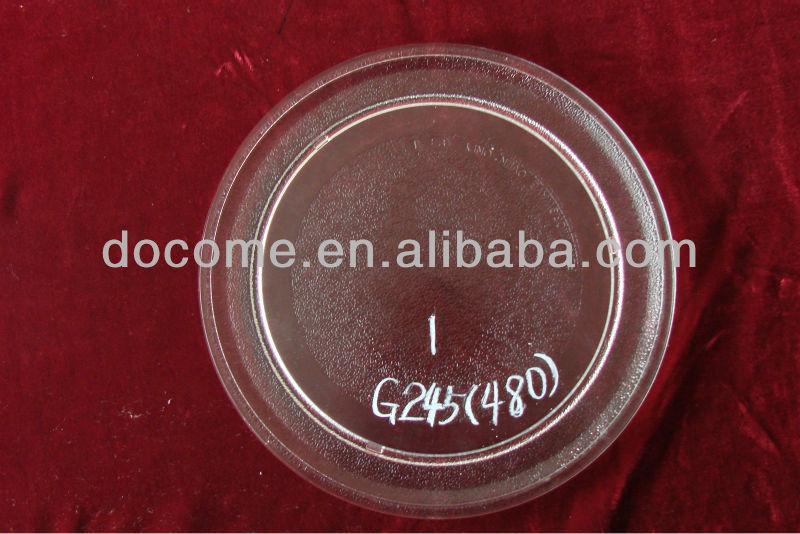 245 mm cristal de turnable plate / bandeja para el horno de microondas de piezas
