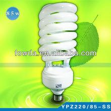 china T2 e27 6400k 85w half spiral energy saving bulbs