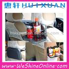 yiwu huixuan Multifunction car cup holder Folding Plastic Car Tray Table, car Food tray