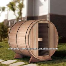 Traditional wooden sauna barrel house 02-S1