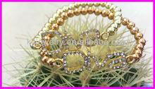 Fashion Gold Plated Beads Charm Crystal Bracelet,DIVA Crystal Bracelet