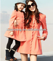 2015 New design brand apparel for Mother and daughter clothing