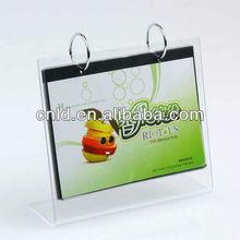 acrylic calendar frame holder
