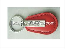red leather kaychain/keyring for car dealer promotion gift logo print