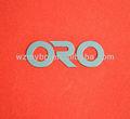 níquel placa de identificación de la empresa electrónica logotipos de la compañía