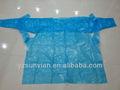 Polietileno de baja densidad/médicos polietileno de alta densidad de plástico desechables bata