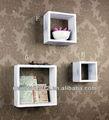 Fu-14861 quadrado de parede decoração de madeira do cubo