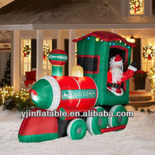 new festival realistic christmas inflatable train for decoration