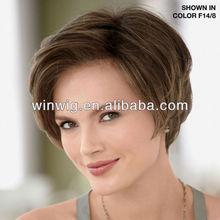 beautiful 6inch short body wave virgin manchine made wholesale cheap human hair wigs white women