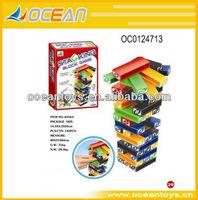 Plastic blocks stacking game 45pcs stacking stick game