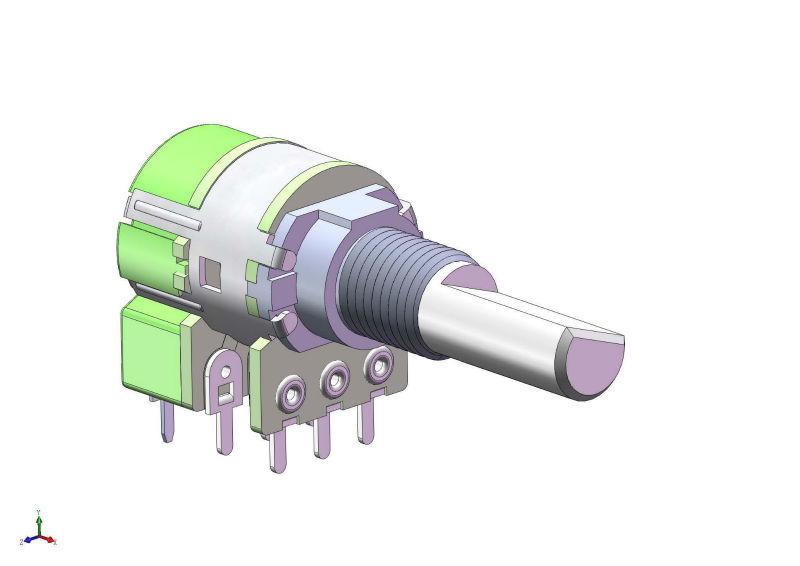 12mm Carbon Film Power Amplifier Motor Potentiometer