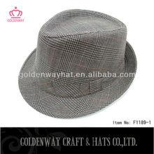 Men's checked fedora snapback hats