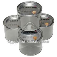 round shape plastic tin