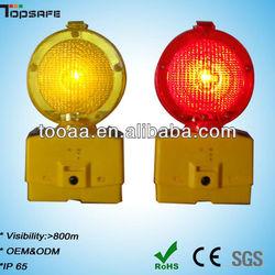 2 LEDs Plastic Solar Powered LED Beacon